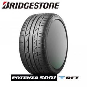 Bridgestone potenza s001 rft 225/50/17 new tayar