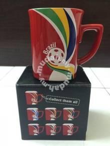Football Brazil Cup Cawan Nescafe Gelas Bola Sepak
