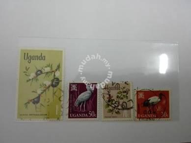 (RB 111) 1963-65 Uganda Stamps, set in 4 -Used