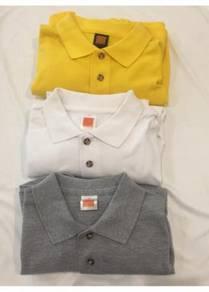 Jual Tshirt Kolar Polo Plain Long Sleeve HC09