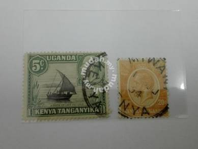 (RB 120) 1921-23 Kenya-Uganda-Tanganyika Stamps
