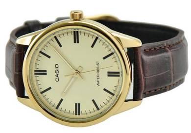 Casio Men Analog Leather Watch MTP-V005GL-9AUDF