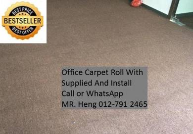 Classic Plain Design Carpet Roll with Install KUN