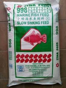 Star Feed 998 Marine Fish Sinking Feed 25kg