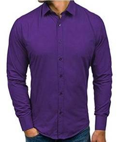J0530 Business Man Formal Purple Long Sleeve Shirt