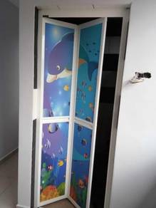 Toilet Bi-Fold Door