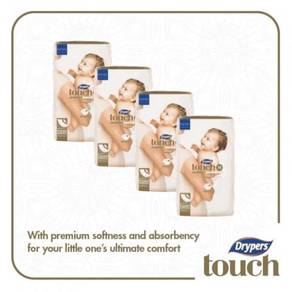 4 x Drypers Touch Jumbo Pack M40