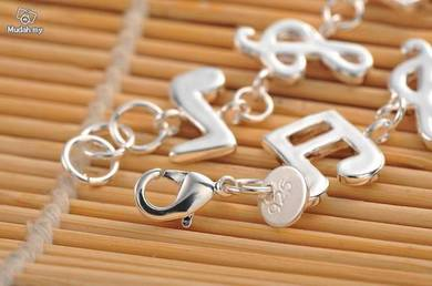 ABBS9-M001 Silver 925 Music Note Bracelet