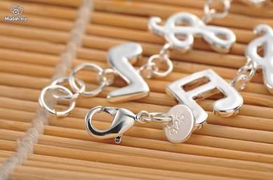 ABBS9-M001 Silver 925 Music Note Bracelet