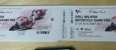 Tiket grandstand F grand stand Ticket sepang 2017