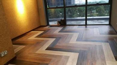 Vinyl Floor Lantai Timber Laminate PVC Floor M239