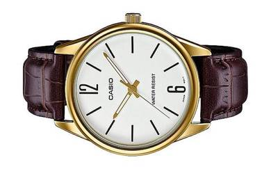 Casio Men Analog Leather Watch MTP-V005GL-7BUDF
