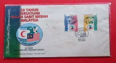 FDC 50 Tahun Persatuan Bulan Sabit Merah 1998