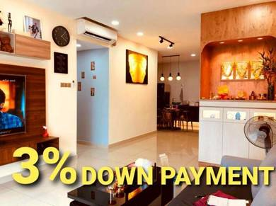 3% down pay. only.move in condition. Twin danga residence. Bukit Indah