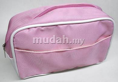 Pink White Toiletry Bag