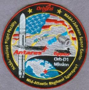 NASA Cygnus Orb-D1 ISS Expedition 37 Space Patch