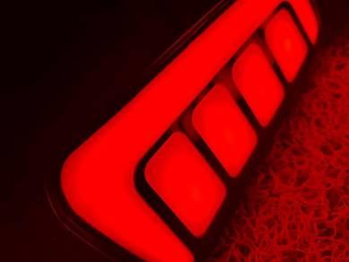 Alphard vellfire rear bumper reflector light lamp