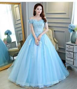 Blue wedding bridal prom dress gown RB0623