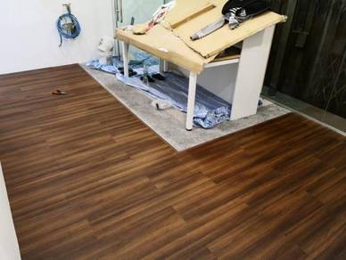 Vinyl Floor Lantai Timber Laminate PVC Floor M346