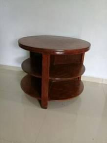 EEQ Meja bulat antik coffee table antique