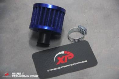 Breather Air Filter Racing Blue Carbon Red