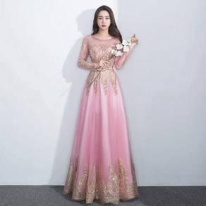 Muslimah pink Wedding bridal prom dress RBMWD0030