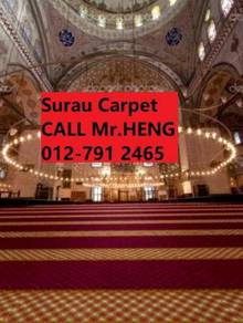 Red Surau Carpet Roll with Installation 234g54