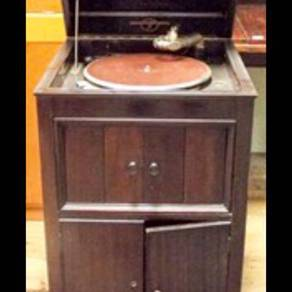 Antique floor standing gramophone