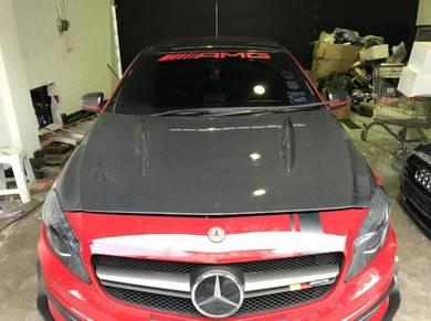 Mercedes A45 carbon bonnet w176 carbon bonnet revo