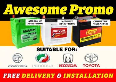 Car battery Myvi Alza bateri kereta Free Delivery