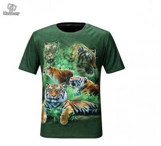 3D T-shirt Animal Tiger UV Protection Quick Dry T