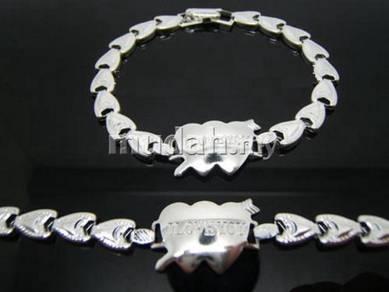 ABBSM-L002 Silver Plated I LOVE YOU Bracelet