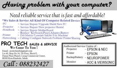 Computer part sales & service