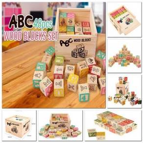 48 pcs wooden block set