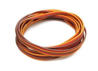 Flat 26AWG servo wire 1 mtr (R/O/B)