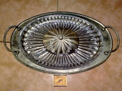 Pinggan vintage Queen Anne plate tray