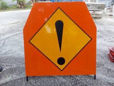 Advance temporary traffic warning HIP sign
