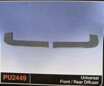 Universal diffuser pu2449 1 pair no paint tak cat