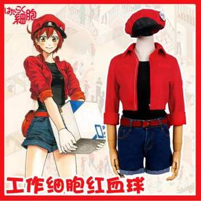 Anime Cells at Work Red blood cell cosplay costume