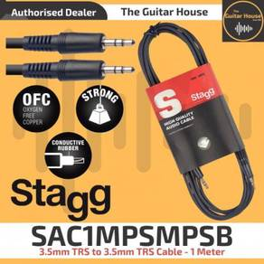 Stagg SAC1MPSMPSB 3.5mm TRS-3.5mmTRS Cable 1 Meter