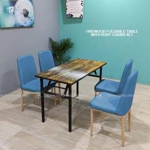 Foldable Table W60xL120xH74cm and Ruby chair