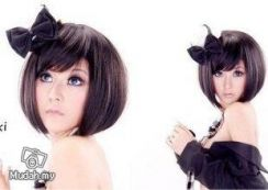 Female Short hair wigs with long fringe md2 rambut