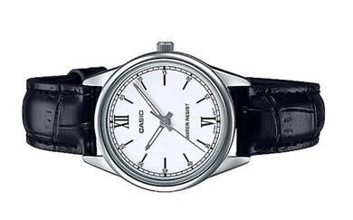 Casio Ladies Analog Leather Watch -V005L-7B2UDF