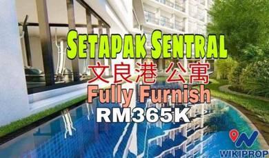 (100%Fully Furnished) Setapak Prelaunch Condo Kuala Lumpur PV dual key