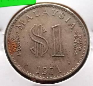 Duit Syiling $1 Siri Parlimen 1971 (E)