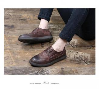 Leather Bullock men's shoes to help high-heeled s