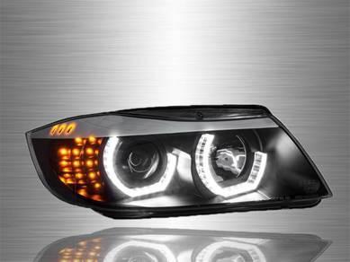 E90 Projector 3D LED Head Lamp 09~11