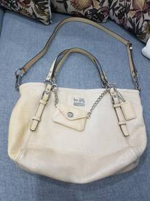 Authentic Coach Embossed Exotic Charm Tote