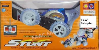 40MHz RC Radio Control Blue Stunt Car Light Music