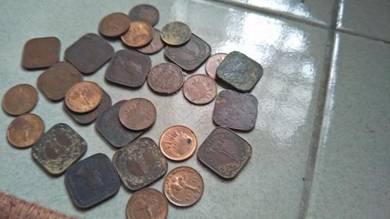 29 keping Coin Malaysia Malaya others lama